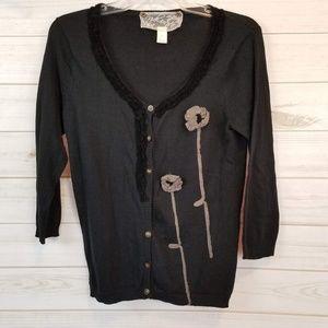 Nick & Mo Anthropologie 3/4 sleeve cardigan size M